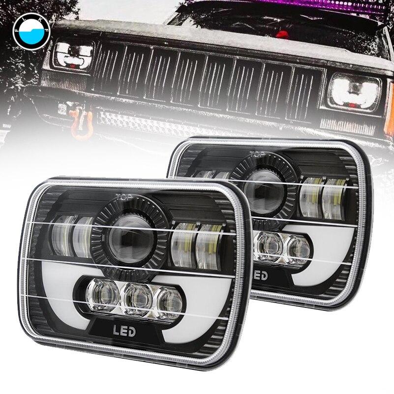 5x7 Inch Car Auto DRL Led headlamp 5x7'' 6x7'' Rectangular LED Headlights for Jeep Wrangler YJ Cherokee XJ Trucks 4x4 Offroad. faduies 5x7 auto drl led headlamp 5x7 inch led truck headlight 6x7 high low beam square led headlight for jeep cherokee xj
