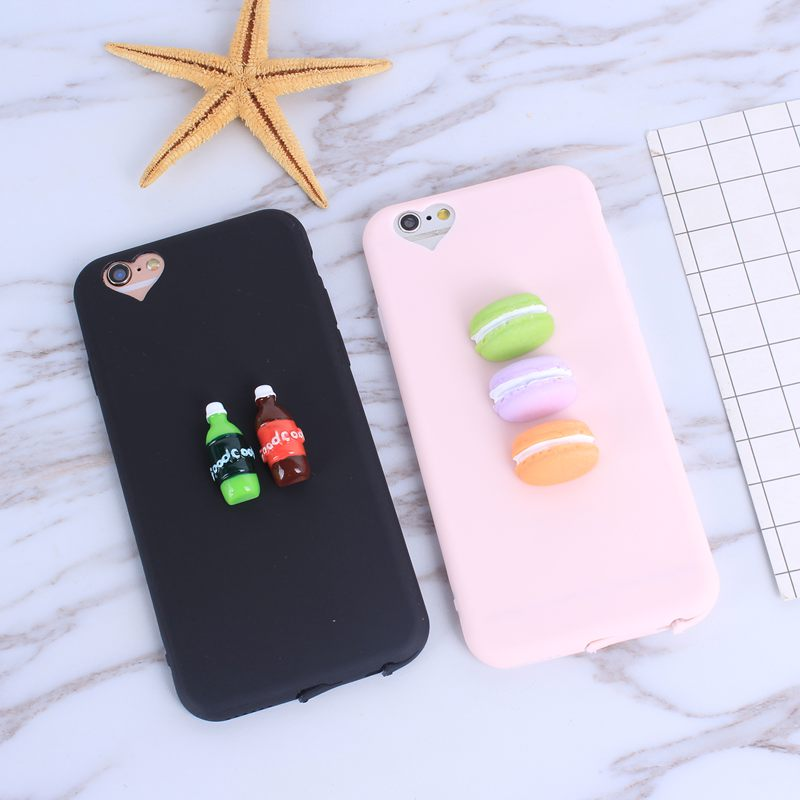 Galleria fotografica Lovely 3D Macaron Fashion candy silicone phone Case for huawei P9 P10 P8 Ltie Y5 Y3 2017 Y5 II cover for iphone 6 6s 7 plus 5 5s
