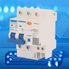 DZ47LE-32 2P+2 C20 Circuit Breaker 20A 230V Miniature RCCB Residual Current Circuit Breaker 2P RCCB dz47le residual current circuit breaker with surge protector rcbo small mcb rccb with lightning protection spd