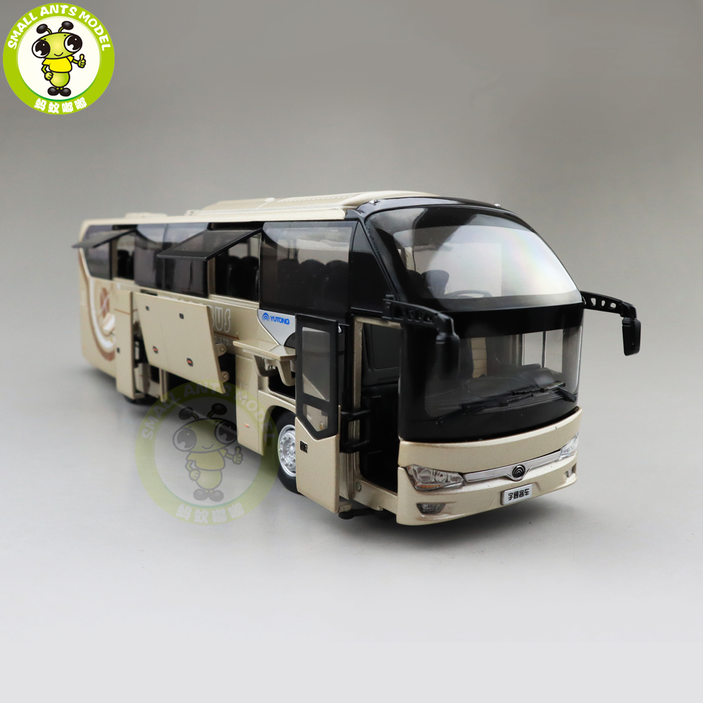 1/42 YuTong Bus ZK6128HQB Bus Diecast Bus Car Model Boy Gilr Gifts Toys