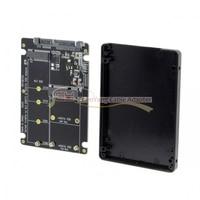 2 in 1 SATA 3.0 to Combo M.2 NGFF B key & mSATA SSD Converter Case Enclosure Adapter for B key or B/M key socket NGFF SSD