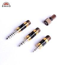 Набор потрясающих родиевых заглушек okscc, 4,4 мм, 3,5 мм, 2,5 мм, сбалансированное аудио, 4 контактный разъем «сделай сам», 3 в 1, Наушники Hi Fi, набор кабелей для адаптации