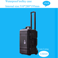 Tool case trolley box Impact resistant sealed toolbox waterproof case security camera equipment camera shipping case