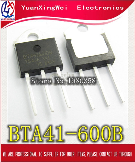 5PCS/lot BTA41-600B BTA41600B BTA41 BTA41-600B Triacs 40 Amp 600 Volt TO-3P new original5PCS/lot BTA41-600B BTA41600B BTA41 BTA41-600B Triacs 40 Amp 600 Volt TO-3P new original