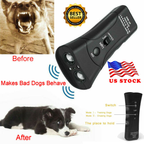 Ultrasonic Anti Dog Barking  Trainer LED Light Gentle Chaser Petgentle Sonic