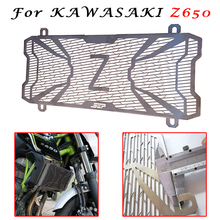 For KAWASAKI Z650 Z 650 Ninja 650 Motorbike Protection Water Tank Guard Radiator Grille Guard High Quality Stainless Steel