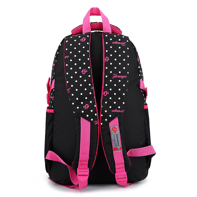 ZIRANYU Fashion Wave Point Primary School Bags Girl 2-6 Grade Burden Ridge 8-12 Years Old Children Backpacks Printing Backpack School Bags