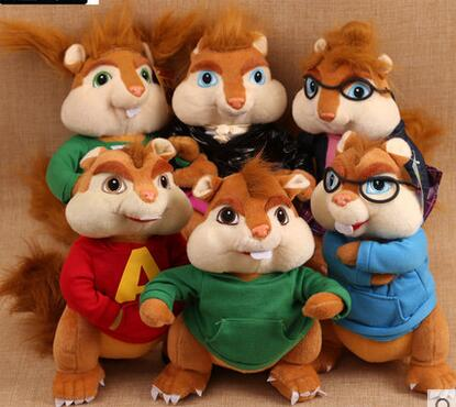 set of 6 10 alvin and the chipmunks 3 cartoon dolls plush toy kids xmas christmas gifts in stuffed plush animals from toys hobbies on aliexpresscom - Alvin And The Chipmunks Christmas