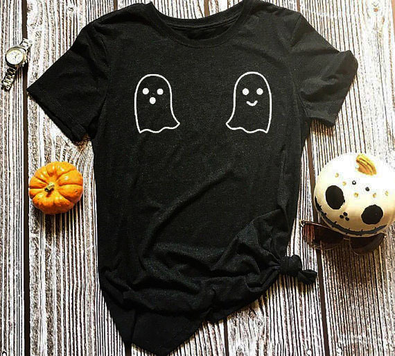 Halloween Harajuku T-Shirt Halloween Costume Crewneck ladies Halloween Ghost Pumpkin Tee Hipster Summer Funny Tops shirts