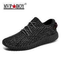 MVP BOY Brand 2018 New Summer Mesh Air Mesh Men Breathable Loafers Black Shoes Spring Lightweight