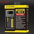 Original nitecore intellicharger i2 carregador caixa 18650 10440 cr123a aa aaa 14500 17670 li-ion/nimh carregador de bateria universal