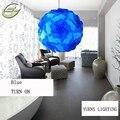 New fashion lâmpada quarto criativo lâmpada iq iq lâmpada luzes pingente de luz de cor azul, tamanho 30 cm ysliqb12 free grátis