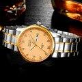 BOSCK Relógios de Marca de Quartzo Relógio De Ouro Dos Homens de Negócios de Aço Inoxidável Diamante Ultra Fino Masculino Vestido relógio de Pulso 5686 reloj de quartzo