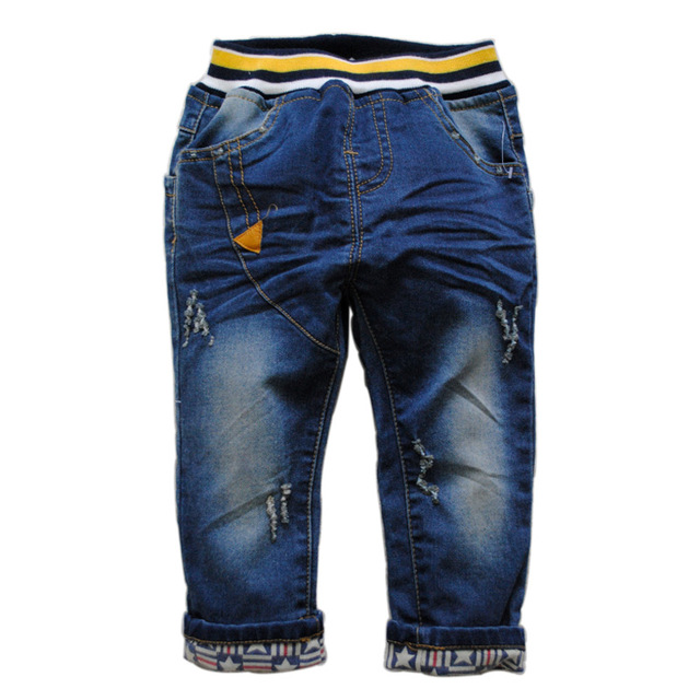 3847   denim jeans pants baby spring autumn  kids baby jeans NAVY BLUE CHILD  boys jeans BABY  not  fade   boys girls baby