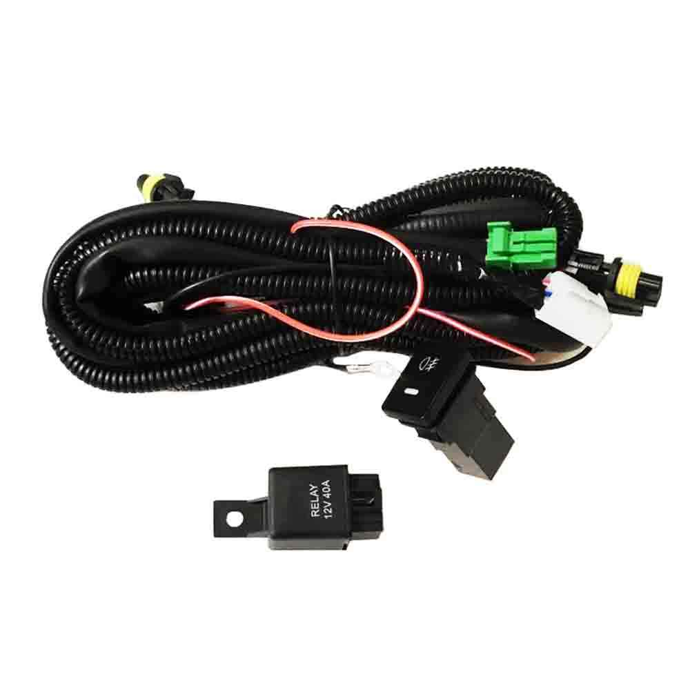 new wiring harness sockets wire + switches for h11 fog light lamp for ford  focus fiesta