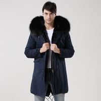 2017 г., Акционная распродажа темно winterproof парка молодых Для мужчин утолщенные длинные стеганая куртка Теплый Сельма mr парка