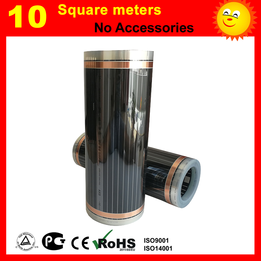 10 Square meters far infrared heating film for floor heating of bed room enhanced version of european style metal bed iron bed double bed pastoral style student bed 1 5 meters 1 8 meters