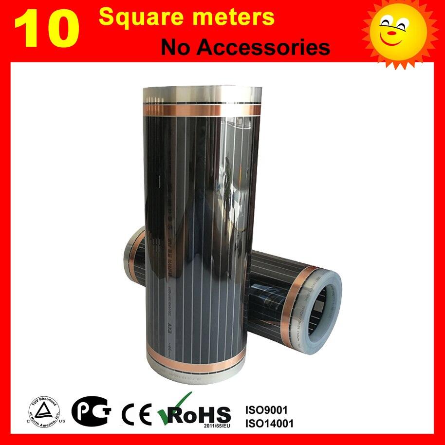 10 mètres Carrés infrarouge lointain chauffage film pour chauffage par le sol de lit chambre