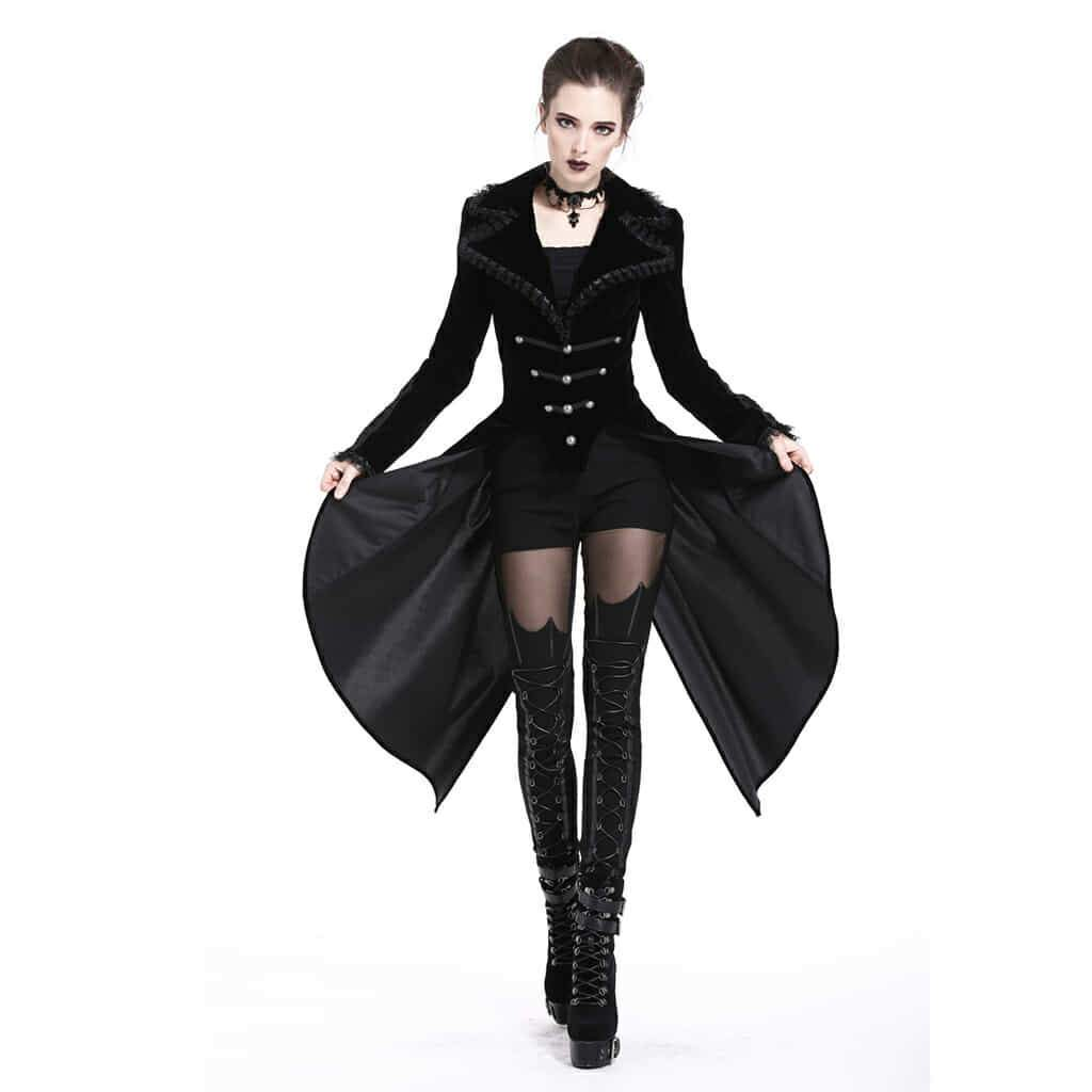 Dark In Love Women Gothic Jackets and Coats Vintage Victorian Balck Tail Coat Evening Party Stage