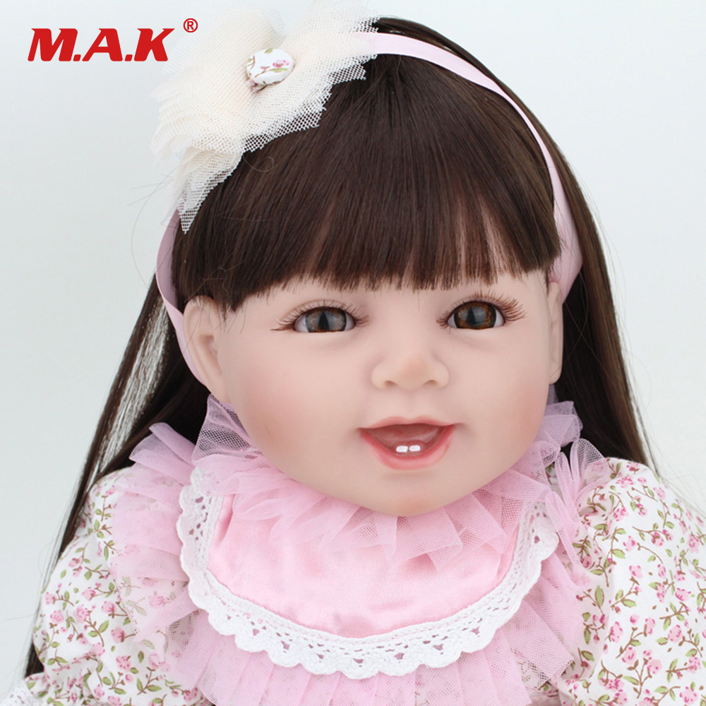 22 inches 55CM Baby Reborn Doll Newborn Lifelike Fake Girl Bebe Doll Silicone Vinyl Dolls for Children Toys lifelike american 18 inches girl doll prices toy for children vinyl princess doll toys girl newest design