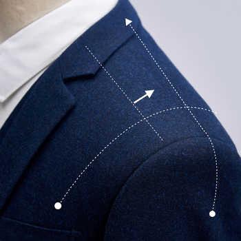 TIAN QIONG 2018 Men Suits Wedding Slim Fit 3 Piece Mens Dress Suits Fashion Brand Male Woolen Suit Costume Homme Ternos Slim Fit