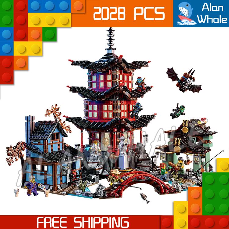 2028pcs Bela 10427 Temple of Airjitzu Building Blocks Ninja Model Bricks Best Large Gifts Toys Compatible With lego bela hero factory brain attack pyrox model building blocks action 3d diy bricks toys compatible with lego