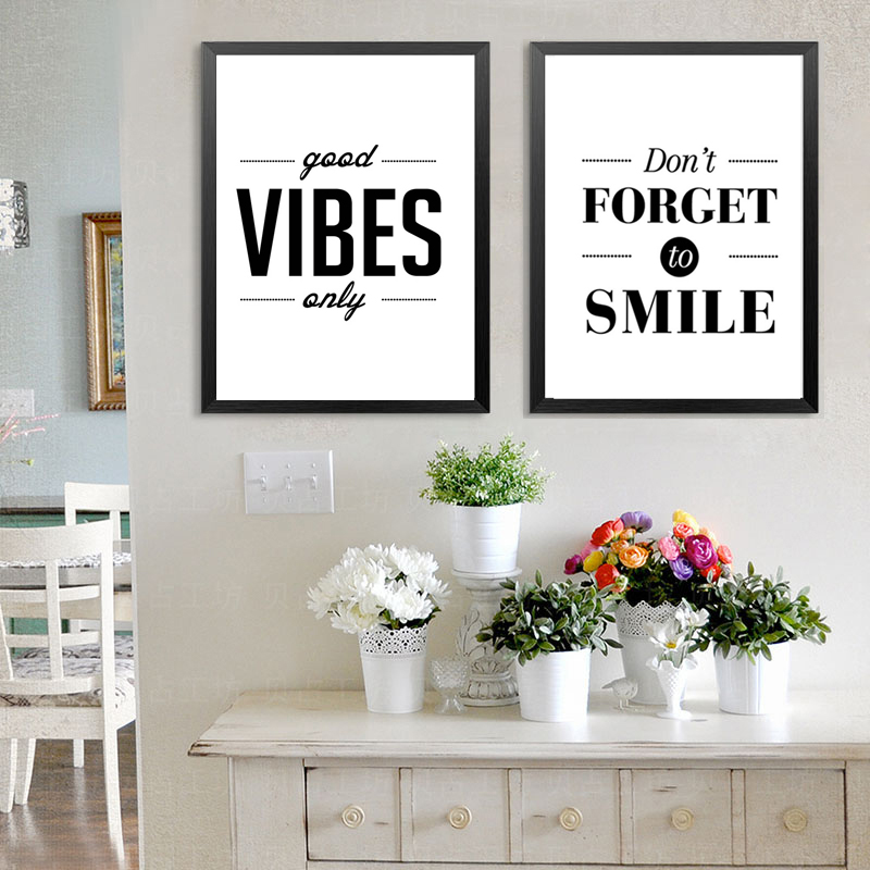 Nordic Minimalist Motivational Good Vibes Only Quotes