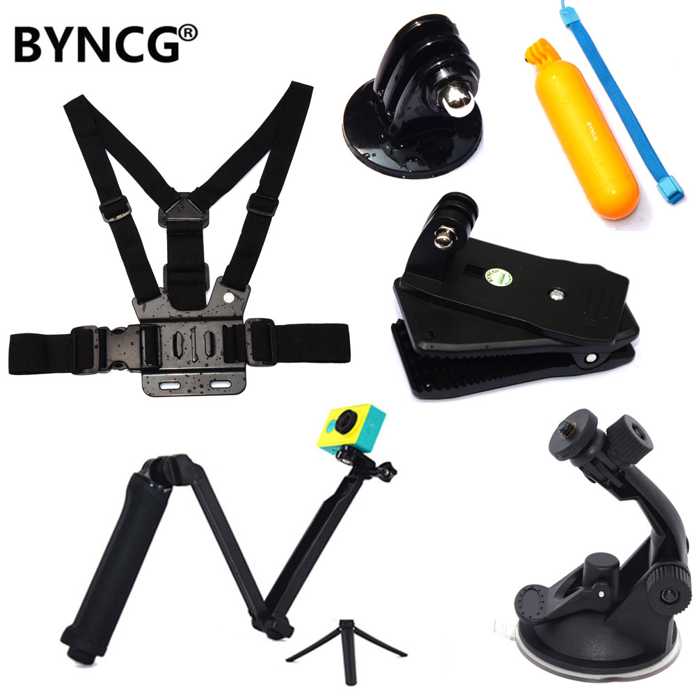 BYNCG for Gopro Hero 6 Accessories Strap for Go Pro Hero4 Hero 1234567 Xiaomi Yi Accessories Sport Action Camera Black Edition экшн камера xiaomi yi action camera basic edition black