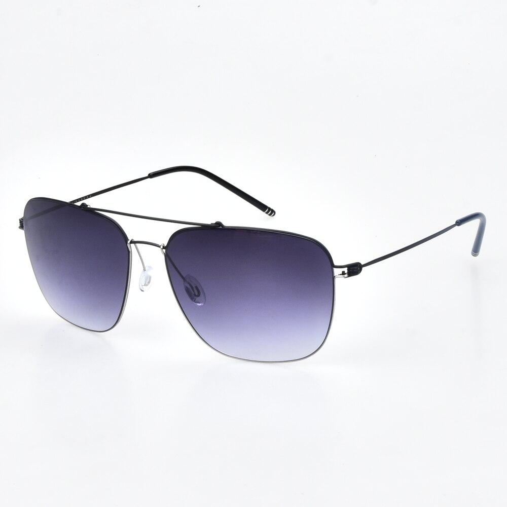 Nouveau style européen et américain jante carré titane lunettes de soleil polarisées lunettes rétro lunettes de pilote