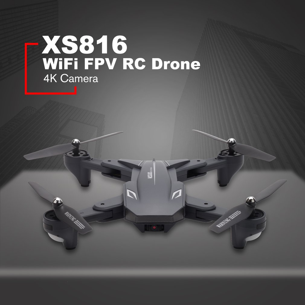 XS816 WiFi FPV RC Drone 4 K/720 P caméra flux optique intelligent RC avion pliable Selfie Drone VS XS809S XS809HW SG106
