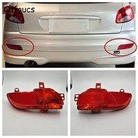 Cafoucs Car Rear Bumper Light For Peugeot 206 plus 207 Hatchback Sedan Tail Fog Lamp