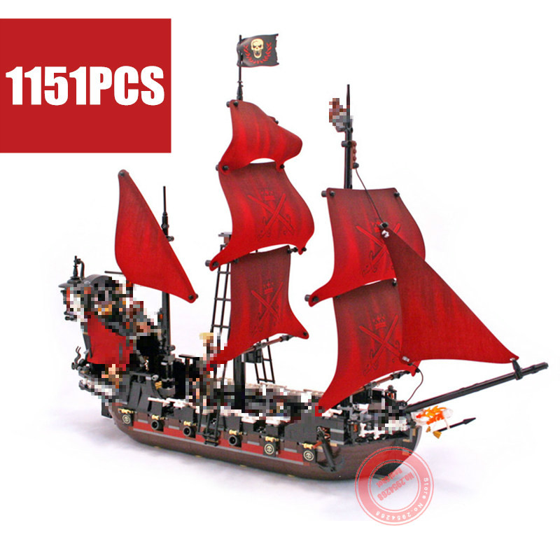 New Queen Anne s revenge Pirates of the Caribbean fit 4195 Pirates military figures Building Block