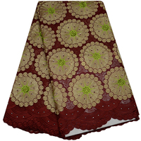Cotton Lace Fabric For Party Dress High Quality African Swiss Voile Lace In Switzerland With Stones