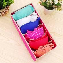 Hoomall многоразмерная Складная домашняя коробка для хранения нетканого бюстгальтера нижнее белье Органайзер Ящик Шкаф Органайзер для шарфов носок гардероб