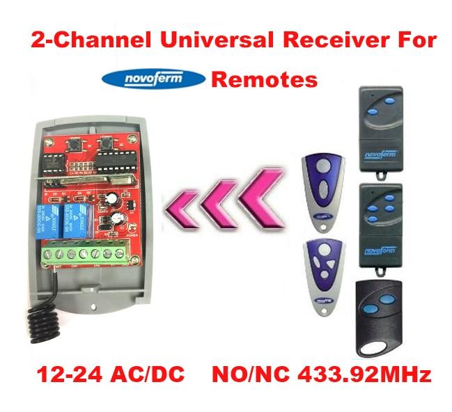 universal receiver for Novoferm rolloing code remotes 433.92MHz receiver