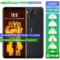 В наличии! Ulefone Мощность 3 6,0 18:9 полный Экран 6080 мАч MT6763 Восьмиядерный Face ID 21MP четыре Камера 6 г 64 г Android 7,1 мобильный телефон