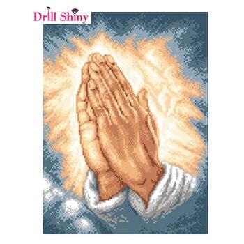 Nova pintura mão religião diy pintura diamante buda 5d cruz-ponto padrão diamante bordado religião