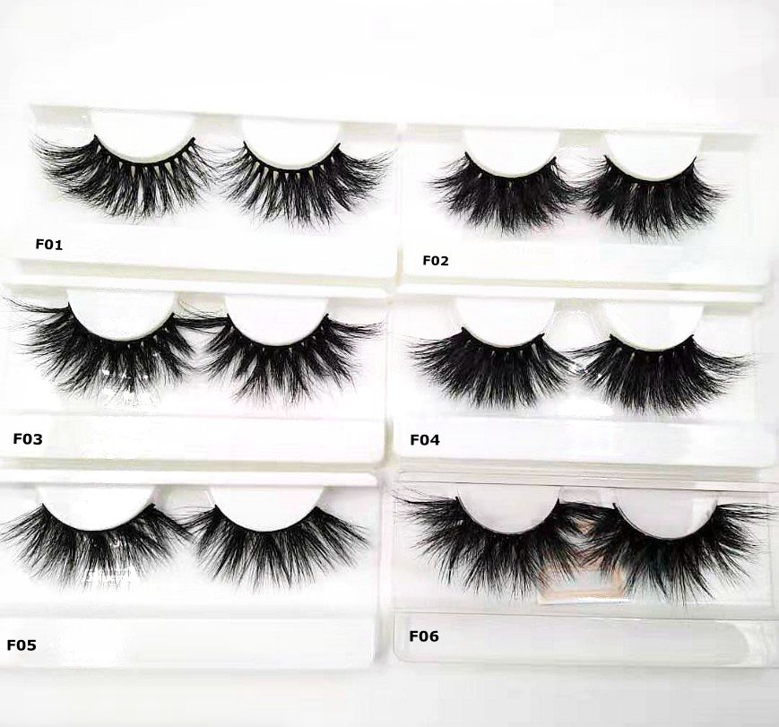 48cb57e33ef HBZGTLAD 25mm False Eyelashes Wholesale price Thick Strip 25mm 100% 3D  luxury Mink fake Lashes Makeup Dramatic Long Mink Lashes ~ Premium Deal  July 2019