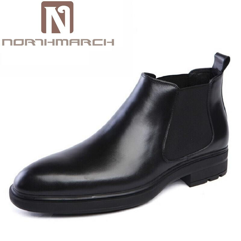 En Masculino Botas Negro Northmarch Famosa Deslizamiento Lujo Calidad Invierno Tobillo Tinto Genuino Hombres Los De vino Tenis Zapatos Negocios Cuero qIfw7