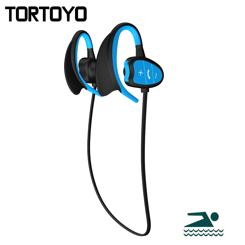 BH802 IPX8 Waterproof Swimming Neckband Ear Hook Sports Bluetooth Headphone Wireless Earphone Stereo Headset with Microphone цены