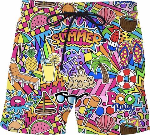 PLstar Cosmos 2018 Summer Men Funny Shorts 3D Summer Lovin Trousers For Women/MenShorts Dropship Plus Size S-7XL