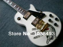 Hersteller herstellung die beste e-gitarre LP weißen benutzerdefinierte palm impressum angepasst werden ems-freies verschiffen