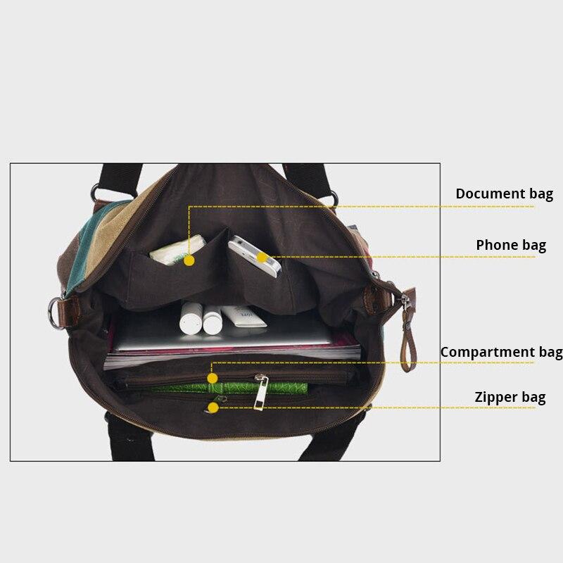 Image 5 - Canvas Bag Fashion Canvas Shoulder Bag Women Handbags Ladies Hand Bags Tote Casual Crossbody Bolsos Mujer Hobos Bolsas Feminina-in Shoulder Bags from Luggage & Bags