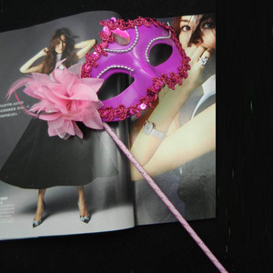 Image 4 - Sexy Prom Wedding Party Mask Women Costume Venetian Cosplay Masquerade Dance Masks Handheld Stick Carnival Purim Festival Parade