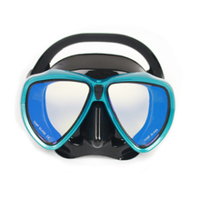 ALBK Kids Adult Swimming Training Equipment Diving Glass Scuba Dive Mask Snorkel Underwater Diving Tempered Glass Mask for Gopro
