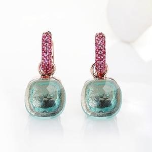 Image 5 - Женские серьги с розовым цирконием FORIS, модные серьги цвета розового золота с кубическим цирконием, Подарочные ювелирные украшения для женщин