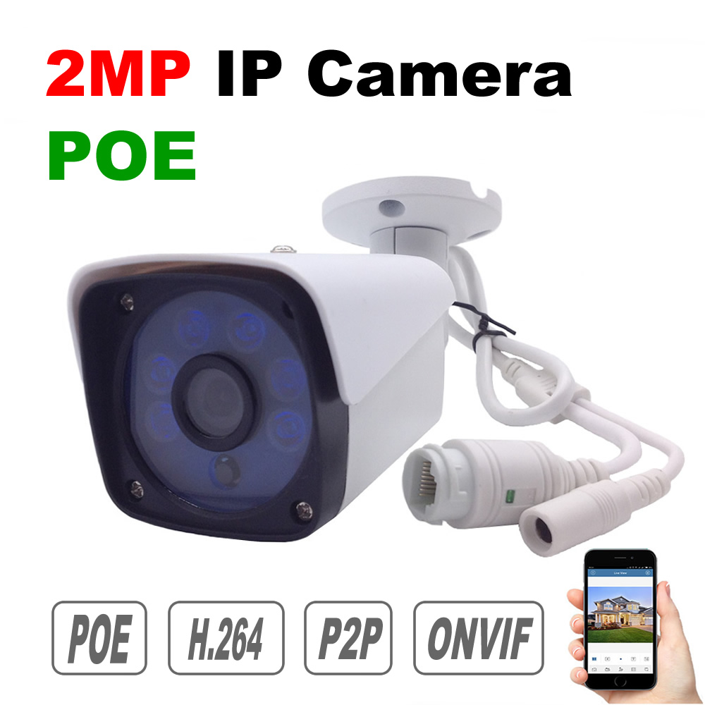 POE IP Camera 1080P Onvif P2P Cloud 2MP Security Surveillance Camera Power Over Etherne Waterproof Outdoor Night Vision все цены