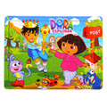 Brinquedos do bebê Presente 40 Pcs Enigmas Dos Desenhos Animados Dora/Tigre/Gato De Madeira Enigma De Madeira Brinquedos Educativos para Crianças BirthdayGift