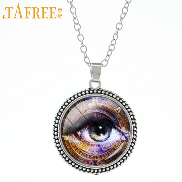 Tafree Aztec Calendar Necklace Secret Eyes Mayan Sun Astronomy Archaeology Choker Gl Fashion Men Women
