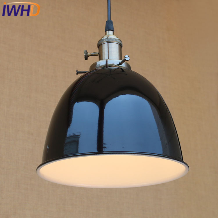 IWHD Iron Lamparas Retro Vintage Industrial Lighting Hanging Lamp Home Lighting  Fixtures Retro Lamp LED Kitchen Pendant Lights